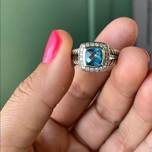 David Yurman Jewelry - David Yurman Albion Petite Topaz Ring